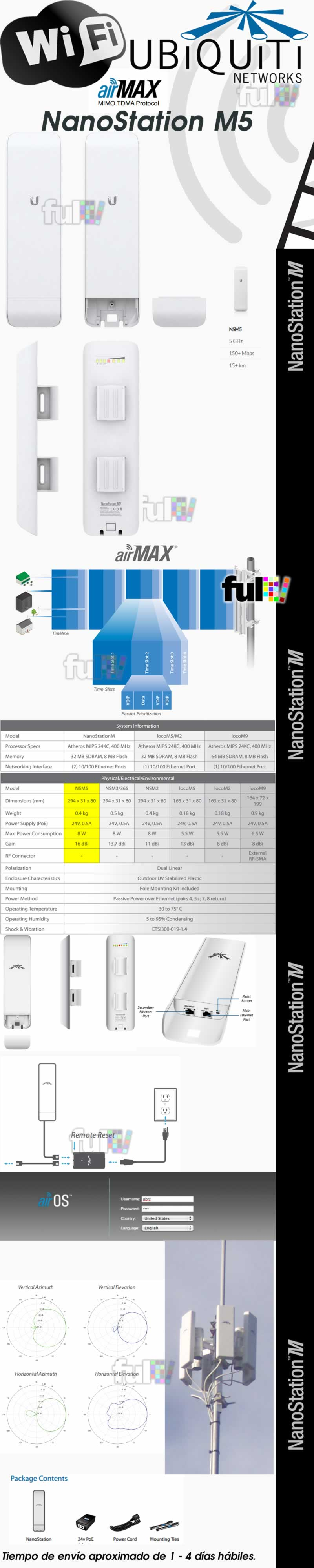 Nanostation M2 Ubiquiti Airos Airmax 5 Ghz