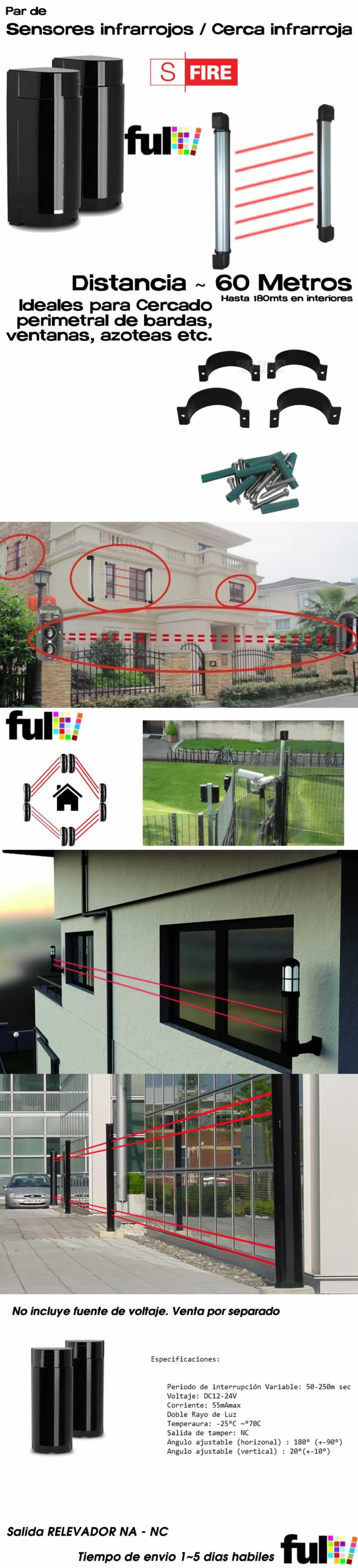 Sensor Infrarrojo 100mts